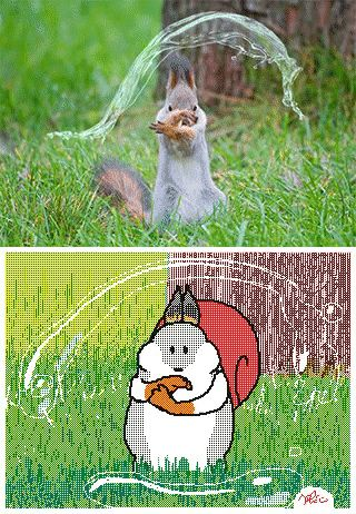 squirrel waterbending animated cartoon gif